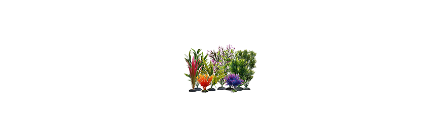 Figurki i sztuczne rośliny do akwarium